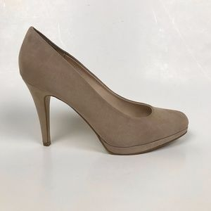 Taupe Suede Heels